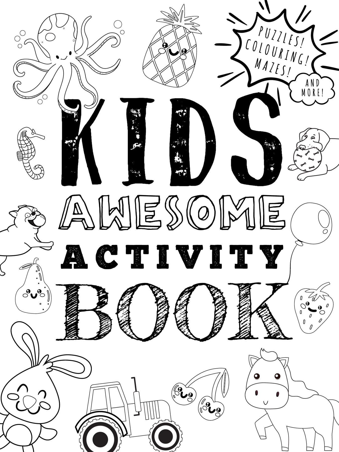 Cover of Kids Awesome Activity Book